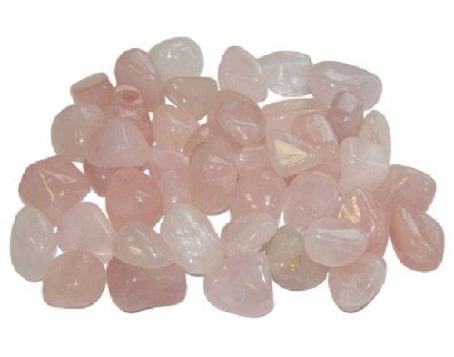 Kleine, polierte Trommelsteine, verschiedene Sorten, je 10-20mm Größe pro Stein, Rosenquarz, 10-20mm
