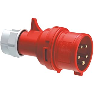 REV CEE Device Plug 5-Pin 16A 400V ǀ Made in Europe ǀ CEE Plugs for Industry Craft Agriculture ǀ IP44 Splash-proof ǀ Colour Red