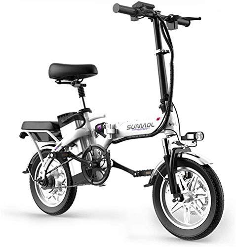 RDJM Bici electrica Bicicletas eléctricas rápida for adultos Ligera bicicleta eléctrica de 8 pulgadas Ruedas E-bici portable con Pedal Power Assist aluminio bicicleta eléctrica Velocidad máxima de has