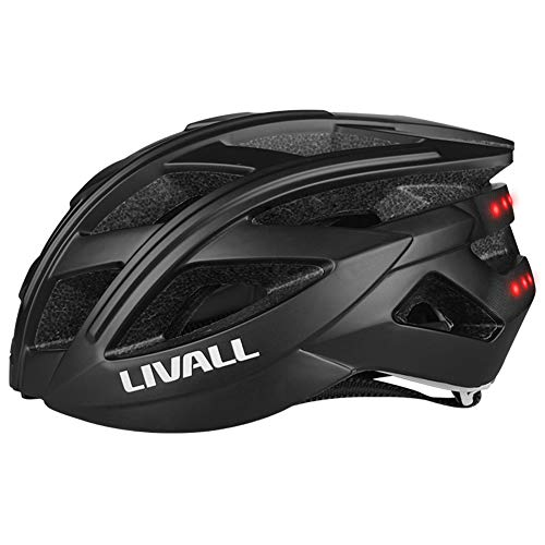 LIVALL BH60SE Smart Helmet with Auto Sensor LED, Turn Signal Tail Lights, Connects via Bluetooth for Music & Calls, Certified Comfortable Smart Adult Bike Helmet-Upgraded Version (Black, L)