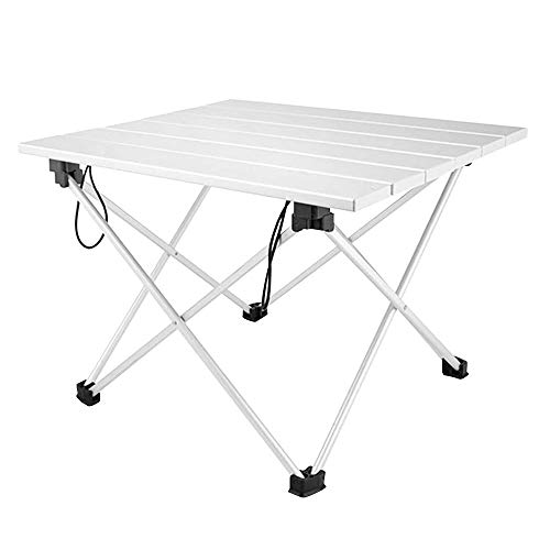 Foldable Camping Table Portable Metal Camping Dining Table Lightweight Small Aluminum Table with Carrying Bag for Picnic Picnic BBQ Cooking Festival Beach Home Use