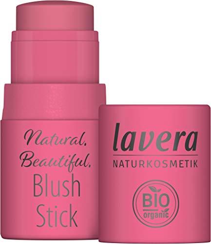 lavera Natural Beautiful Erröten Stick Rouge und Lippenstift, Confident Coral 01