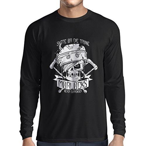 N4605L Camiseta de Manga Larga Skate or Die Trying (Large Negro Multicolor)