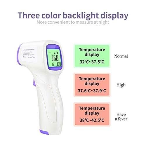Topker Berührungsloses Infrarot-Thermometer LCD-Hintergrundbeleuchtung Elektronisches Thermometer Celsius Fahrenheit Temperaturmessgerät