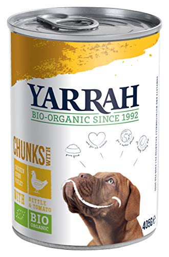 YARRAH Bio hondenvoer brokje, 12er Pack (12 x 405 g)