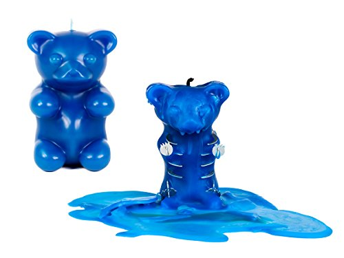 Skeleton Candles Gummy Bear Candle – Scented Blue