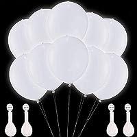 【Die Verwendung von leuchtenden Ballons】 Um die leuchtende luftballons in der dunklen Party zu aktivieren, ist alles, was Sie tun, ist das Etikett zu ziehen und die Ballons auf 12 Zoll (30 cm) entweder mit Helium (kein Helium-Tank erforderlich) oder ...