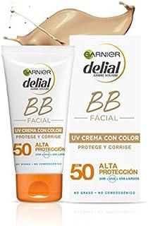 Garnier Delial BB Sun Crema de Protección Solar con Color para Rostro y Escote con SPF50+ y Vitamina E - 50 ml