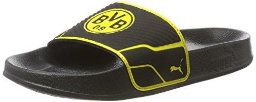 Puma Unisex-Erwachsene Leadcat TS BVB Badeschuhe, Schwarz Black-Cyber Yellow, 39 EU