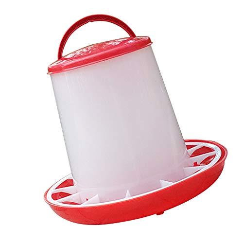 H HILABEE Poulet Mangeoire Seau Plastique Mangeoire Poules/Poussins/Canards/Poussins 1.5kg/2.5kg - 1,5 kg avec Couvercle