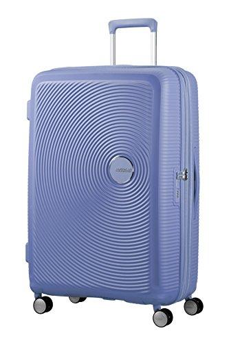 American Tourister Soundbox - Spinner L Espandibile Bagaglio a Mano, Spinner L (77 cm - 110 Litri), Blu (Denim Blue)