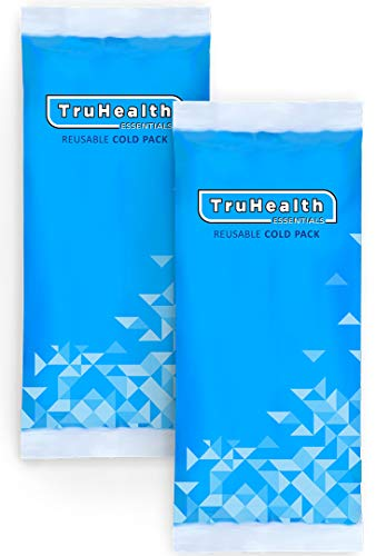 Gel Ice Pack Cold Compress - Reusable (2 Packs) for Injuries, Instant Headache Relief, Cooling Therapy for Knee, Shoulder, Elbow, Neck, Ankle, Arm, Jaw, Leg, Wrist, Back Pain and Muscle Recovery