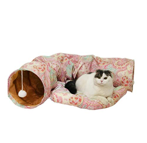 Hondenhok en Cathousetunnel Zachte en warme kennel Kat Dierbenodigdheden Kattenhuis speelgoed 130 * 25 * 52