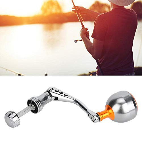Xinwoer - Brazo de carrete de pesca, brazo de balancín de mango de metal CNC, para pesca salvaje, color gris