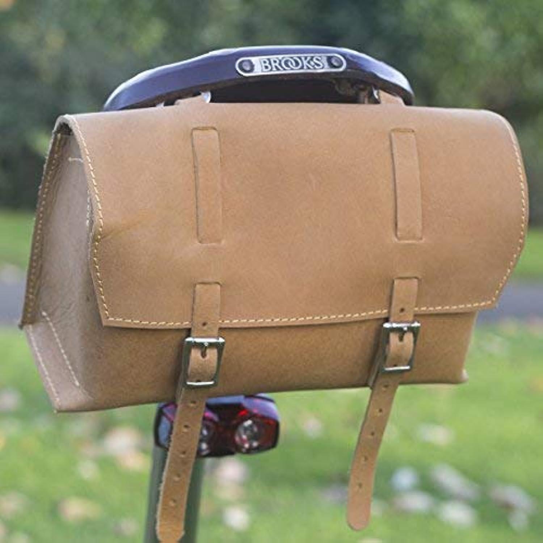 London Craftwork Large Bicycle Bag Saddle Handlebar Frame Bag in Sude Leather Classic Bag Nubuck