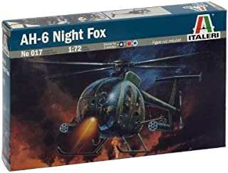 Italeri Kit 1:72 Modelo de helicóptero AH - 6 Noche Fox 0017S