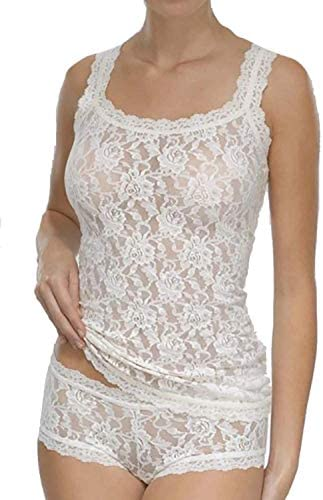 hanky panky Women s Signature Lace Unlined Cami Ivory Tank Top XL product image