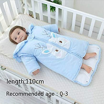 RubyShopUU Newborn Winter Thickening Sleeping Bag Cotton Baby Anti-Kick Detachable Sleeves Sleep Sack Warm