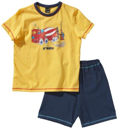 Schiesser Jungen Kn Schlafanzug Kurz Pyjama, Gelb (600-gelb), 140 (8-9Y)