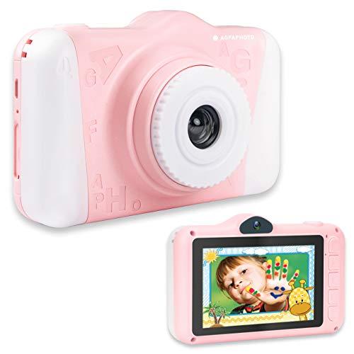 AGFA Foto Realikids CAM 2 - Cámara de Fotos Digital para niños (Fotos de 12 MP, vídeo, Pantalla LCD de 3,5 Pulgadas, filtros de Fotos, Modo Selfie, batería de Litio) Rosa