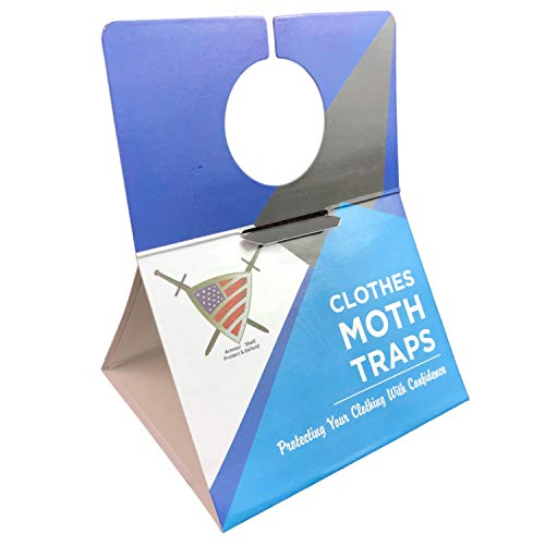Moth Traps Closet Clothing  6 Pack Moths Clothes Trap with Unique Hanging Design Pheromone Attractant Catches Male Moths Naturally without Toxic Repellant is Family Safe with Long Lasting Effects
