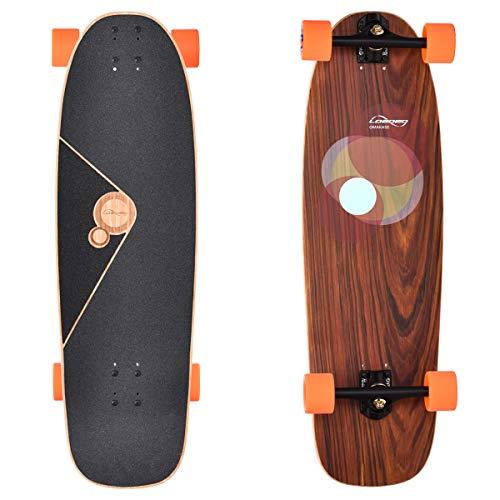 Loaded Boards Omakase Bamboo Longboard Skateboard Complete (Roe, 80a Stimulus)