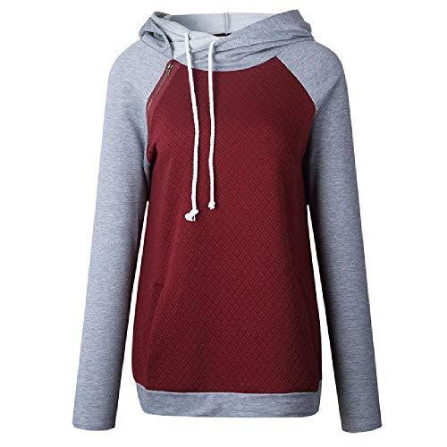 U/A Sweatshirt Frauen Hoodies Sweatshirt Frau Kapuzenpullover Sweatshirts Oversize Harajuku Hoodie Sweatshirt Gr. L, rot