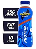 For Goodness Shakes High Protein Chocolate Shake, 475ml - Pack of 10