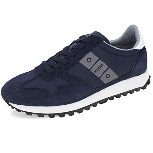 Blauer Scarpe Sneaker Running Dawson in Suede/Tessuto Blue Navy Uomo US21BU07 42