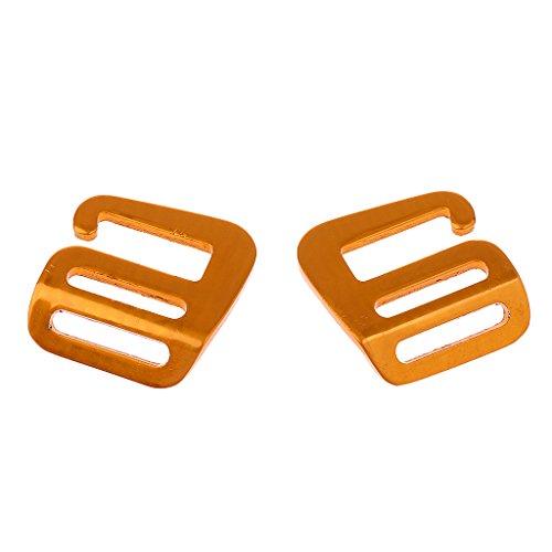 Non-brand 1 Paar G Haken Outdoor Gurtbandschnalle Für Rucksackgurt 25mm - Gold