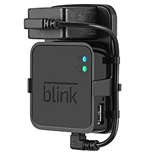 Outlet Wall Mount for Blink Sync Module – Mount Bracket Holder for Blink XT and Blink XT2 Outdoor and Indoor Home Security Camera with Easy Mount Short Cable – Black