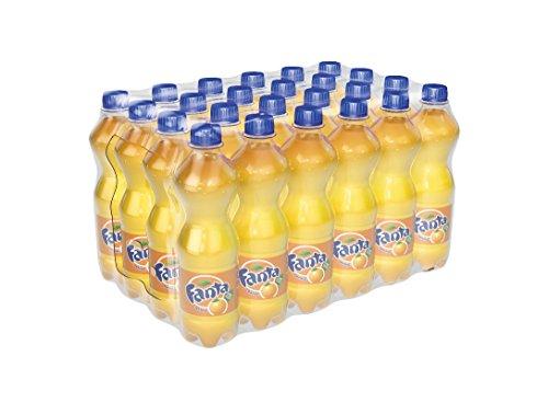 Fanta Orange / Super frische Limonade mit Orangengeschmack und Spaß-Garantie in coolen Flaschen / 6 x 4 x 500 ml Einweg Flasche