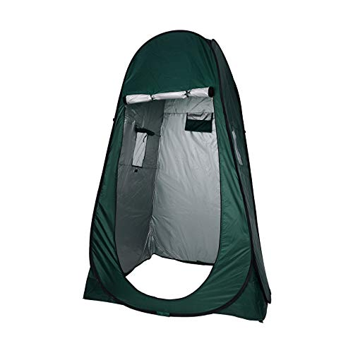 YORKING 190cm Zelt Duschzelt Toilettenzelt Umkleidezelt Camping Zelt Wasserfest Beistellzelt Draussen Grün