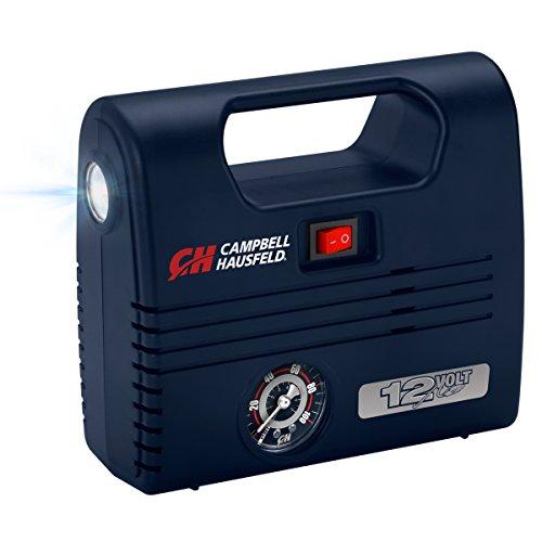 Portable 12 Volt Inflator, Ball & Tire Compressor, LED Light, 100 PSI w/ Nozzles (Campbell Hausfeld AF010600)