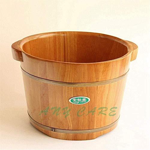 KHFFH Baignoire à Pied- Bubble Leg Bucket Prestige Bain de Pieds Barrel Lavage Pieds (34 Diamètre 25 cm de Haut) Oak Barrel