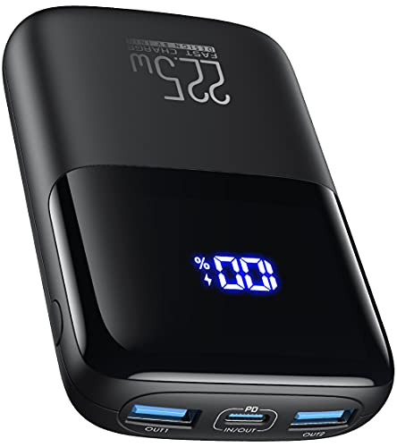INIU Powerbank, 22.5W PD 3.0 QC4.0 LED Display 10000mAh Tragbares Schnellladegerät, Externer Akku mit Handyhalterung für iPhone 12 Pro 11 Samsung S20 Huawei Xiaomi LG iPad Tablet Airpods usw