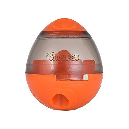 DADYPET Futterball für Hunde Hundefutter Ball Futterball Snackball Hundespielzeug Ball Hunde Snackbälle Exportgröße Kann Sich Anpassen Appetit Steigern Leicht Zu Reinigen Verbesserte Versio (Orange)