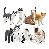 TOYMANY 8PCS Realistic Cat Figurines, Educational Cat...