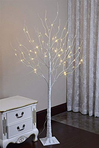 LIGHTSHARE LED Lighted Birch Tree, 6 Feet, Warm White