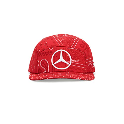 Mercedes-AMG Petronas 2020 - Offiziell Lizenziertes Formel-1-Produkt - Lewis Hamilton Special Edition Silverstone Cap - Rot - OneSize