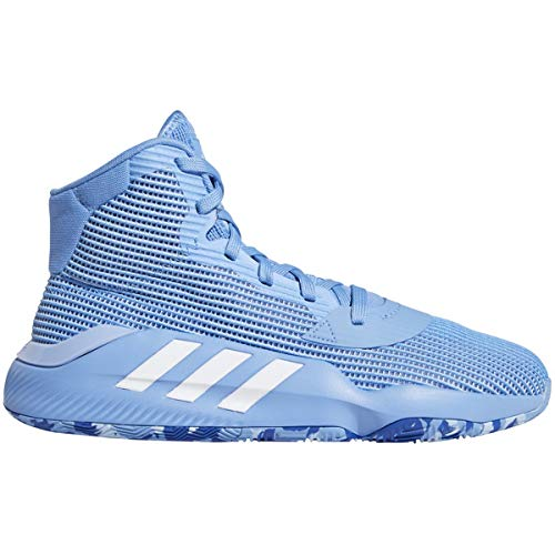 adidas Pro Bounce 2019 Shoe - Men's Basketball Light Blue/White/Glow Blue