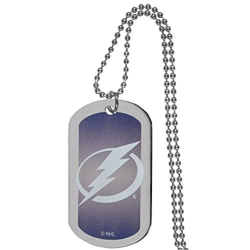 NHL Siskiyou Sports Fan Shop Tampa Bay Lightning Team Tag Necklace 26 inch Team Color