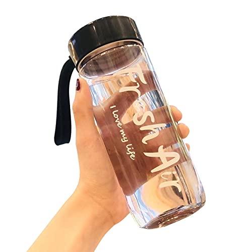 Botella de Agua Sport 780ml Botella de Agua portátil de plástico para Beber Taza de té Deporte al Aire Libre Suministros para Acampar Café Herramientas de Cocina - a7, Blanco780ml