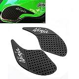 Elec-bro Motorcycle Gas Tank Pad Gas Fuel Knee Grip Decal Protector Traction Side Pads Compatible with Kawasaki Ninja 250 300 2008-2016