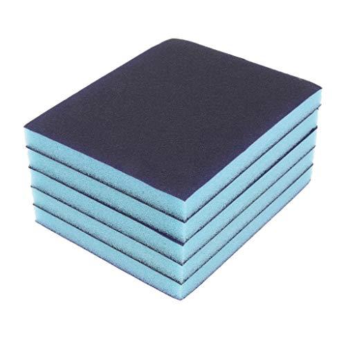 D dolity 5unidades–Esponja de lija blauf Colores Espuma de lijar Lija Medio 180Grit, 2páginas lija grano revestimiento lijas