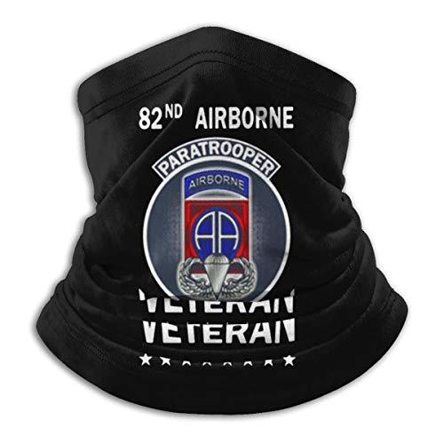 82nd Airborne Paratrooper Veteran Neck Gaiter Tube Mask Headwear, Motorcycle Face-Mask Face Scarf, Balaclava Black