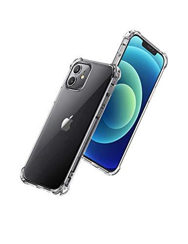 MP-France - Carcasa para Apple iPhone 12, carcasa protectora [4 esquinas reforzadas] [Transparente]