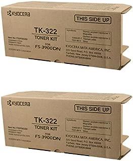 Kyocera TK-322 (TK322) Black Toner Cartridge 2-Pack for FS-3900DN