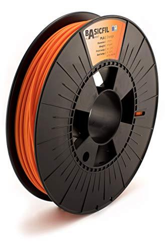 BASICFIL PLA 2.85mm, 500 gr filamento de impresión 3D, Naranja