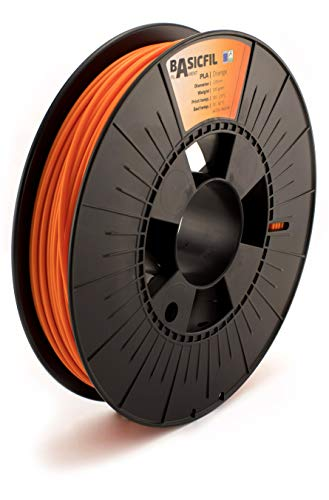 Basicfil Pla Pla-285Or1-0500B Filamento per Stampante 3D, Arancione, 500 Gr, 2.85 mm di diametro
